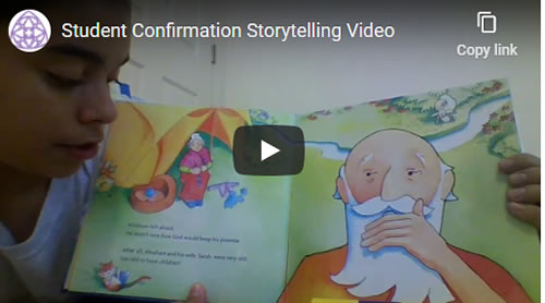 Bible Story Read by Confirmation Candidate