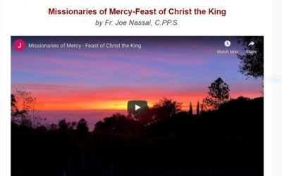 Christ the King Message from Fr. Joe Nassal